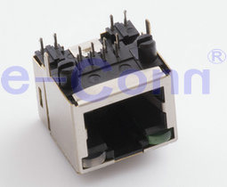 Single-Port Magnetic Modular Jacks with LED, Rj 45, Poe Jacks. pictures & photos