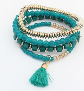 Fashion Jewellry Multilayer Resin Beads Tassel Charm Bracelet Jewelry pictures & photos