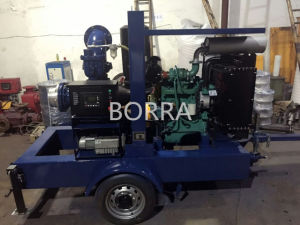 Trolley Diesel Engine Self-Priming Centrifugal Trash Water Pump pictures & photos