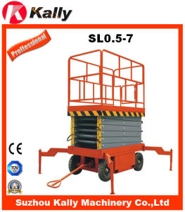 Mobile Hydraulic Scissor Lifting Platform with Ce (SL0.5-7)