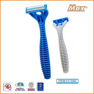 Triple Blade Stainless Steel Blade Disposable Shaving Razor (LV-3286) pictures & photos