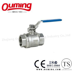 2PC Stainless Steel Lockable Ball Valve with Thread End pictures & photos