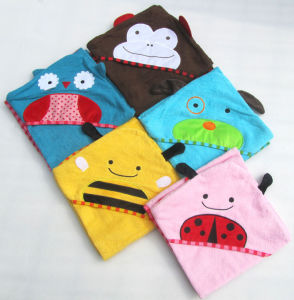 Animal Face Hooded Baby Towel, Bath Towel pictures & photos