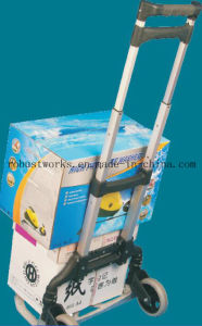 Foldable Aluminium Hand Trolley (HT060A) pictures & photos