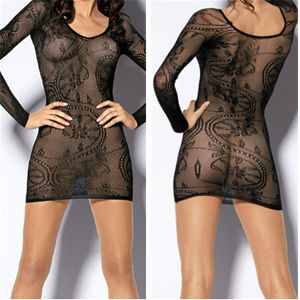 Hot Women Black Sexy Babydoll Dress (53009) pictures & photos