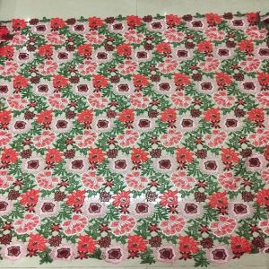 Wholesale Advanced Machines Multi Color Flower Design Lace Fabric pictures & photos