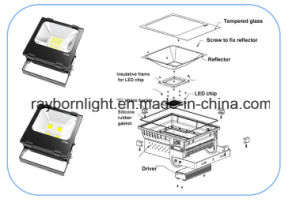 CE RoHS Stadium Football Field Lighting 100W LED Flood Light pictures & photos