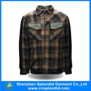 China Manufacturer Custom Your Logo Button up Plaid Work Jacket