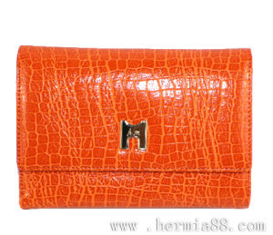 Fashionable High Quality Croc Pattern Genuine Cow Leather Wallet (HW250030)