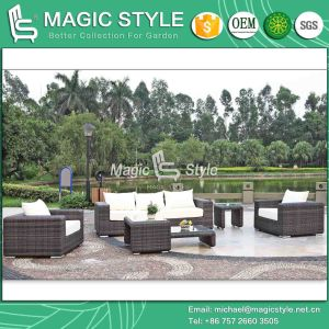 Modern Rattan Sofa Set Garden Sofa Outdoor Patio Sofa Wicker Combination Sofa (Magic Style) pictures & photos