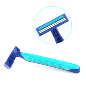 Green Rubber Twin Blade Stainless Steel Disposable Shaving Razor (T800) pictures & photos