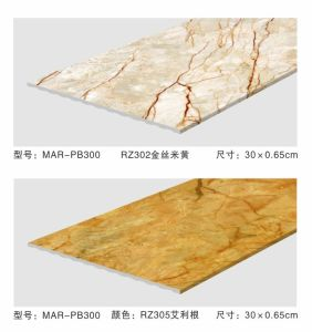 PVC Wall Panel Size 300mm Width 10mm Height Surface Wrapped Color Foil pictures & photos