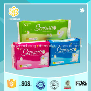 Ultra Thin Cotton Sanitary Pad Customized Brand pictures & photos