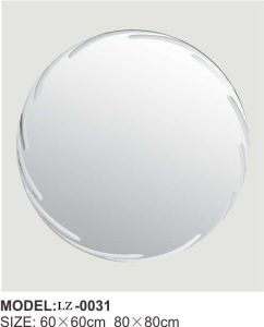 Vintage Round Wall Mirror Frameless Bathroom Mirror (LZ-0031) pictures & photos
