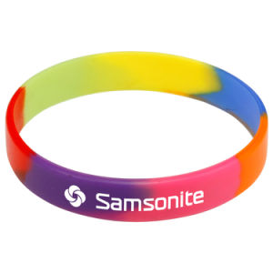 Custom High Quality Multicolor Silicone Bracelet pictures & photos
