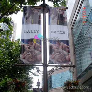 outdoor hanging avenue lamp post promotion flags banners