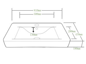 Bathroom Middle Edge Ceramic Cabinet Basin for North America (SN1538-80) pictures & photos