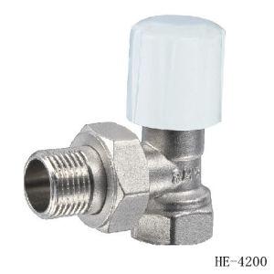 (HE4200--HE4201) Radiator Valve with Zinc, Aluminum or Plastic Handle for Water