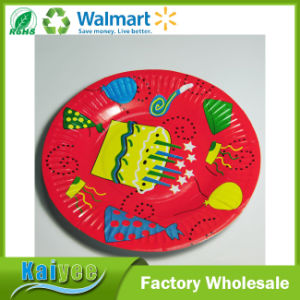 Promotion Disposable Tableware Theme Party Round Paper Plates pictures & photos