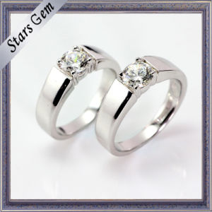 Vivid Brilliant Synthetic Diamond Simple Fashion Couple Jewelry Ring pictures & photos