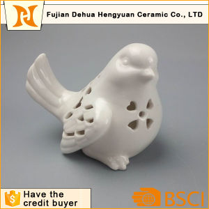 White Ceramic Hollow Bird Ceramic Crafts (garden decoration) pictures & photos