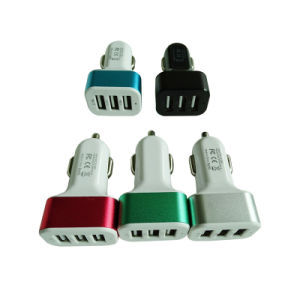 Mult-Funtion Ports 5.1A 3 USB Car Charger with Aluminum Case pictures & photos