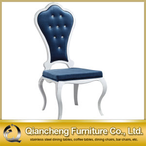 Comfortable High Back Stainless Steel Dining Chair pictures & photos