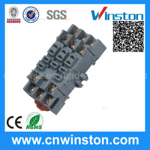 Ppf-011 Mini Plastic 8 Pins DIN-Rail Mouting Electrical Material Relay Plug Socket pictures & photos