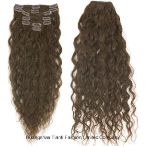 8A Remy Clip in Hair Extension #4 Double Drawn Hair 26""