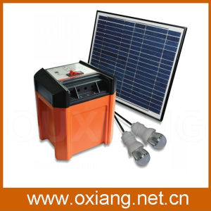 12V20ah Solar System for Home Use with USB and 2 LED Lights DC Generation pictures & photos