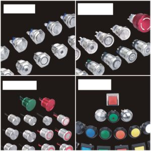 6mm Power Symbol Illuminated Stainless Steel Push Button Switch pictures & photos