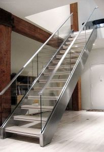 Modern Material 304 Stainless Steel Glass Staircase with ISO Certification pictures & photos