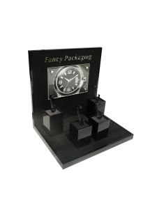Luxury Fashion Carbon Fiber Watch Display with Wooden Cubes pictures & photos