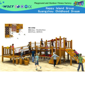 Multifunctional Wooden Outdoor Playground Equipment for Sale (HD-5702) pictures & photos