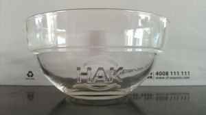 Engraved Glass Bowl Tableware with Good Price Kb-Hn0203 pictures & photos