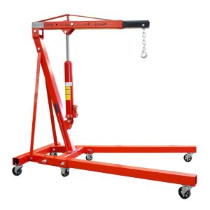 2 Ton Tonne Hydraulic Folding Engine Crane Hoist Lift Stand Wheels 2000kg Garage