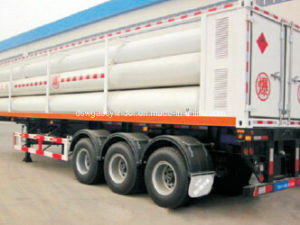Large Cylinder Container Steel Tube 8 Skid CNG Trailer CNG Tank pictures & photos