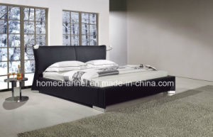 Fashion Double Bed Modern Bedroom Furniture King Size Leather Bed (HC009) pictures & photos