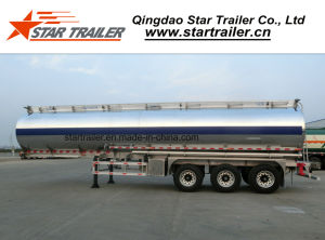 3 Axles Aluminum Alloy Fuel Tank Trailer pictures & photos