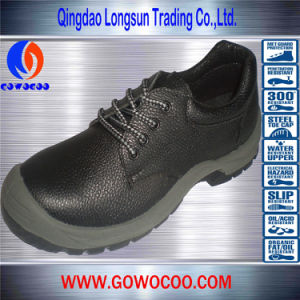 Best Selling Leather Steel Toe Safety Shoes for Outdoor (GWPU-1001)