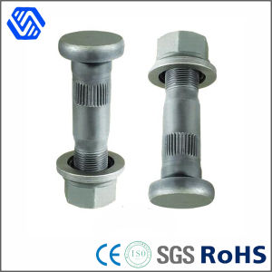 Flat Head High Strength Wheel Nut Hot DIP Galvanized Carbon Steel Bolt and Nut pictures & photos