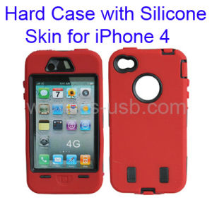 Hard Case with Silicone Skin Dual Layer for iPhone 4 (KIP4G-1005)