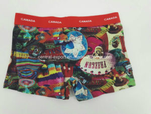 Cotton Aop Reactive Print Men′s Boxer Short Underwear pictures & photos