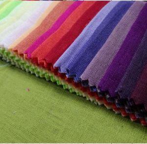 100% Linen Plain Dyed Colors Fabric pictures & photos