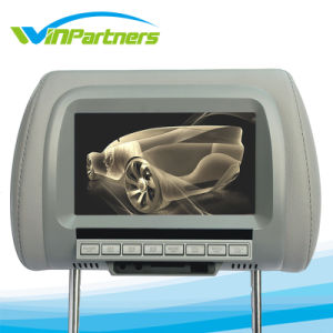 Car Monitor 7 Inch LCD Digital Screen Car Headrest Monitor Adjustable Distance 105 -230mm with 2 Video Input pictures & photos