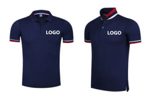 Hot Sale OEM Embroidery Pique Fabric Breathable Polo Shirt with Company Logo pictures & photos