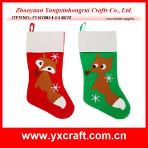 Christmas Decoration (ZY16Y003-1-2-3 50CM) The Little Foxy Xmas Stocking pictures & photos