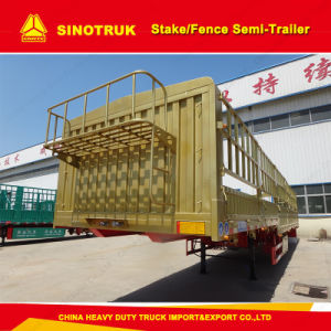 3 Axle Heavy Duty Stake Semi Trailer/Fence Truck Trailer pictures & photos