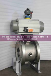 Flange Stainless Steel Jacket Segment Ball Valve pictures & photos