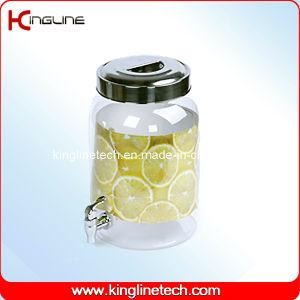 2.2 Gallon Round Plastic Jug Wholesale BPA Free with Spigot (KL-8014) pictures & photos